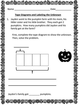 Common Core October Math Activities