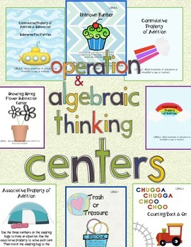 Common Core Operations & Algebraic Thinking Centers Packet