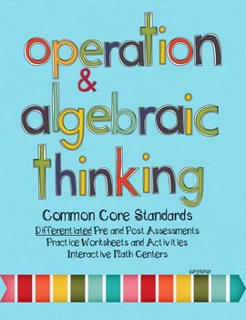 First Grade Math Common Core Center and Assessment Bundle