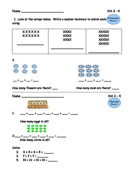 Common Core Operations and Algebraic Thinking Daily Practice