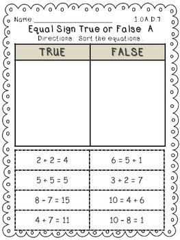 Common Core Operations and  by First Grade Friendzee  Teachers