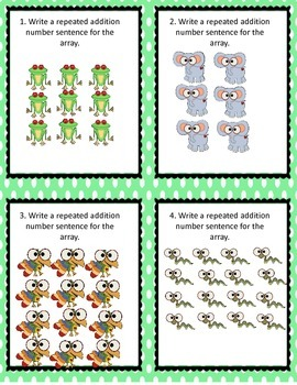Common Core Operations and Algebraic Thinking Task Cards ~ No prep