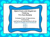 Operations and Algebraic Thinking Tri-fold Bundle for all