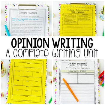 Opinion Writing Unit for Writing Workshop