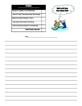 Common Core Opinion Writing Activities
