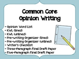 Common Core Opinion Writing Activity Pack