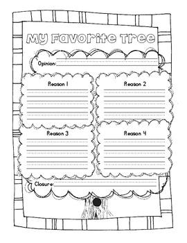 Common Core Opinion Writing: Favorite Tree