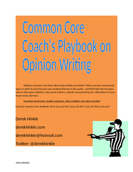 PARCC AIR Common Core Opinion Writing Performance Tasks