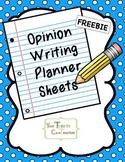 Common Core Opinion Writing Planner and Organizer Sheet FSA