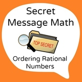 Common Core - Ordering Rational Numbers Secret Message - M