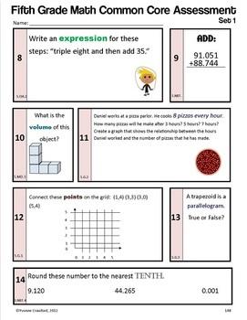 Common Core Organizer, Assessment Guide and Portfolio - Fifth Grade Math