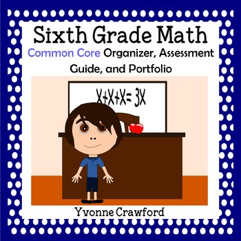 Common Core Organizer, Assessment Guide and Portfolio - Sixth Grade Math