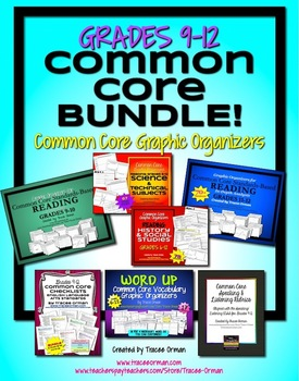 Reading Organizers & Activities BUNDLE Grades 9-12