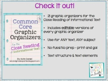 Common Core Organizers for Informational Text