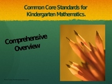 Common Core Overview Kinderrgarten Mathematics