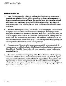 Common Core/PARCC Writing Prompt: The Civil Rights Movement