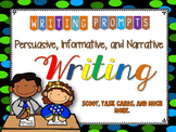 Writing Prompts: PIN Persuasive Informative Narrative Writing