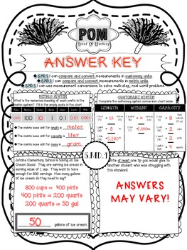 Common Core POM (Proof of Mastery) Assessments - Measurement & Data - 5th Grade