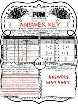 Common Core POM (Proof of Mastery) Assessments - Fractions- 5th Grade