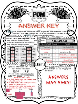 Common Core POM (Proof of Mastery) Assessments - 5.NBT - 5th Grade