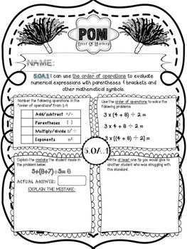Common Core POM (Proof of Mastery) Assessments - 5.OA - 5th