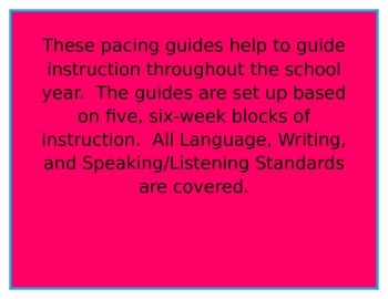 Common Core Pacing Guide-4th Grade ELA