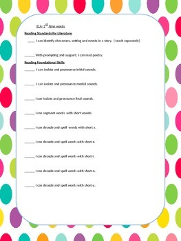 Common Core Pacing Guide/Data Notebooks First Grade