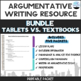Common Core Packets Bundle-Tablets versus Textbooks