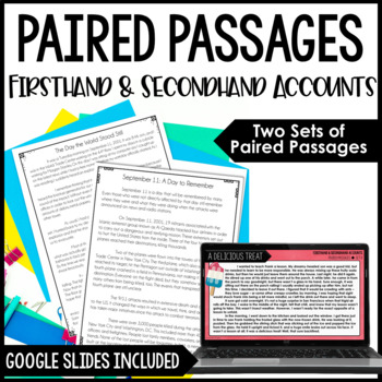 Paired Passages {Firsthand ... by Jennifer Findley | Teachers Pay ...