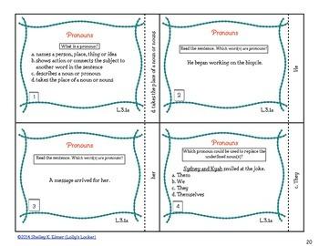 Common Core Parts of Speech & Sentence Types Task Card BUNDLE
