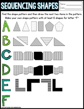 Common Core Patterns and Function Packet for 4.OA.5 and 5.OA.3 *Differentiated*