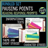 "Common Core ""Pausing Points"" Response to Reading Prompts: Bundled Set"
