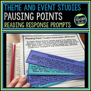 """Common Core """"Pausing Points"""" Reading Reflections:  Theme and Event Studies"""