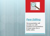 Peer Editing Essays: PowerPoint Presentation Guide