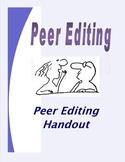 Writing & Peer Editing Handout - For Analytical Essays & MLA Research Writing