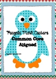 Common Core Penguin Math Centers!