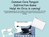 Common Core Penguin Math Subtraction Game (facts to 10)
