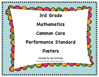 Common Core Performance Standards - 3rd Grade Math