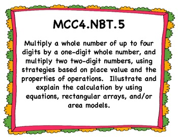 Common Core Performance Standards - 4th Grade Math