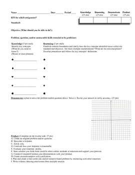 Common Core Performance Task Review Menu