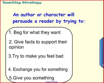Common Core Persuasive Reading and Writing