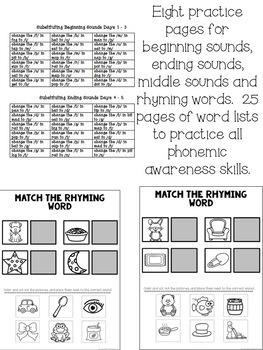 Phonemic Awareness Pack - 30 Days of Sound Activities