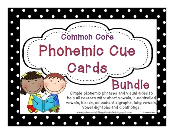 Common Core Phonic Cue Card Bundle Set