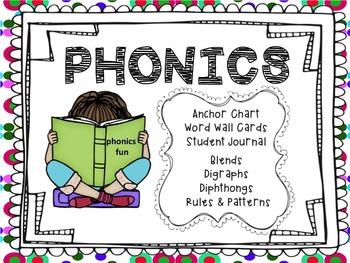 Common Core Phonics Bundle -Digraphs Blends Phonics Rules Student Journal