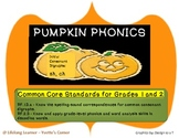 Common Core Phonics Literacy Center for Halloween or Fall Holidays and Seasons