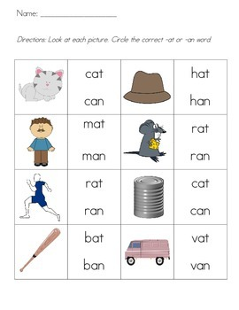 Common Core Phonics: an or at