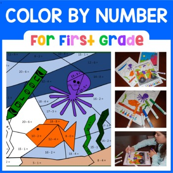Color by Number (First Grade) Color by Number, Addition, and Subtraction