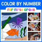 Color by Number (First Grade) Color by Number, Addition, a