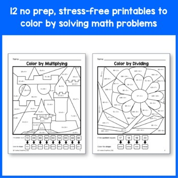 Color by Number (Fourth Grade) Color by Multiplication and Rounding