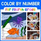 Color by Number (Fourth Grade) Color by Multiplication Dis